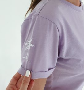 Футболка Campus SLEEVE PALM LAVENDER